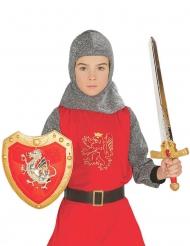 Set scudo e spada cavaliere rosso bambino