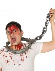 Collana da tortura con catena per adulto