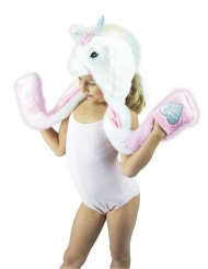 Cappello da unicorno in peluche per bambino