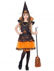 Costume strega con zucche bambina