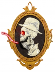 Ritratto di scheletro animato e luminoso