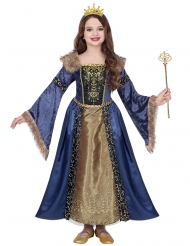 Costume regina medievale invernale bambina