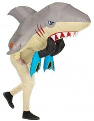 Costume attacco di squalo gonfiabile adulto