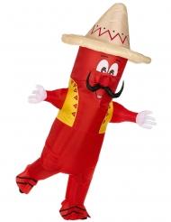 Costume peperoncino messicano gonfiabile adulto