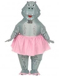 Costume gonfiabile ippopotamo ballerina adulto