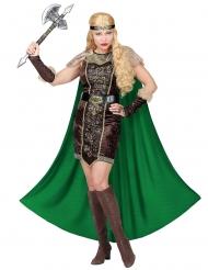 Costume da vichinga con finta pelliccia per donna