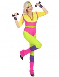 Costume professoressa aerobica anni 80 donna