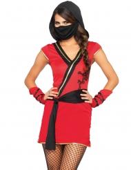 Costume ninja rossa mistica per donna