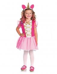 Costume da unicorno magico rosa per bambina