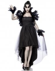Costume da strega del corvo per donna