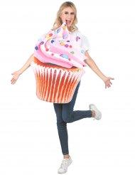 Costume da cupcake rosa adulto