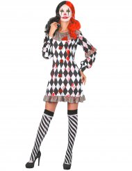 Costume clown insanguinato per donna
