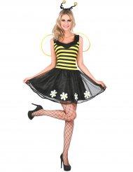 Costume da ape gialla e nera per donna