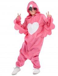 Costume tuta da fenicottero rosa per bambina