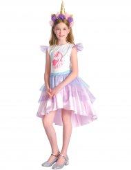 Costume unicorno rosa per bambina