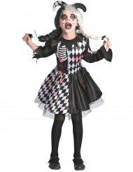 Costume giullare malefico insanguinato per bambina