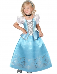 Costume da principessa celeste e bianco per bambina