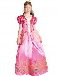 Costume principessa rosa regale per bambina