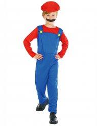 Costume da idraulico rosso e blu per bambino