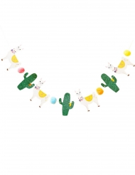 Ghirlanda in cartone con lama e cactus paillettes