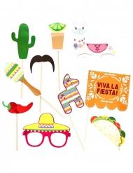 Kit photobooth Fiesta Mexicana 10 accessori