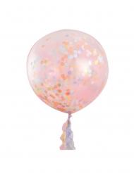 3 palloncini giganti con coriandoli pastello