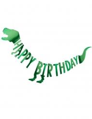 Ghirlanda di cartoncino Dinosauro verde metallizzato
