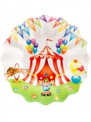 8 piatti di carta Circo