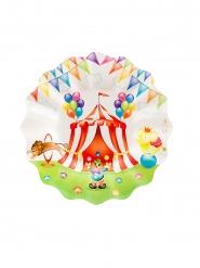 8 piattini in cartone Circo