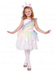 Costume da unicorno arcobaleno iridescente per bambina