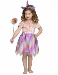 Costume da unicorno con tutu viola per bambina