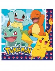 16 Tovaglioli in carta Pokemon™ 33 cm