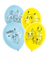 6 palloncini in lattice Pokemon™ 30 cm