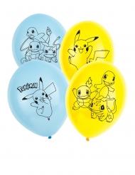 6 palloncini in lattice Pokemon™ 30 cm