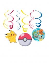 6 decorazioni a spirale da appendere Pokemon™