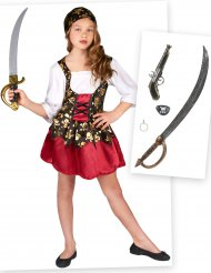 Set Costume da pirata per bambina con accessori