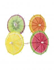 20 Ombrellini da cocktail frutti