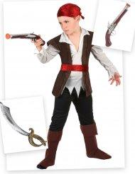 Set Costume da pirata per bambino con spada e pistola