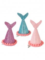 3 cappelli da festa coda di sirena con brillantini