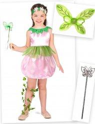 Set costume da fata per bambina con ali e bacchette