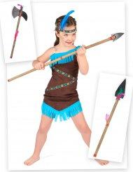 Set costume da indiana per bambina con lancia e ascia