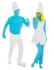 Costume di coppia Puffo™ e Puffetta™ per adulti