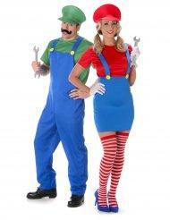 Costume coppia di idraulici per adulto