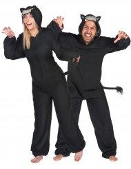 Costume di coppia pantere nere adulto