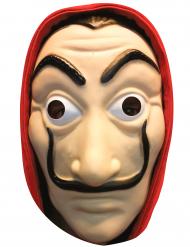 Maschera piatta in cartone bandito adulto