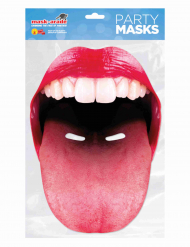 Maschera in cartone bocca con linguaccia adulto