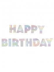 Ghirlanda in cartone Happy Birthday iridescente 2.2 m