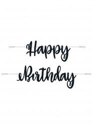 Ghirlanda Happy Birthday in cartone nero
