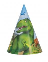 8 Cappelli da festa dinosauri