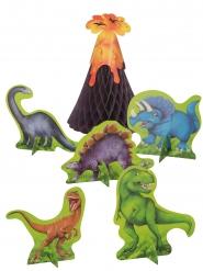 6 Centro tavola dinosauri in carta